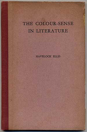 The Colour-Sense in Literature. Havelock ELLIS.