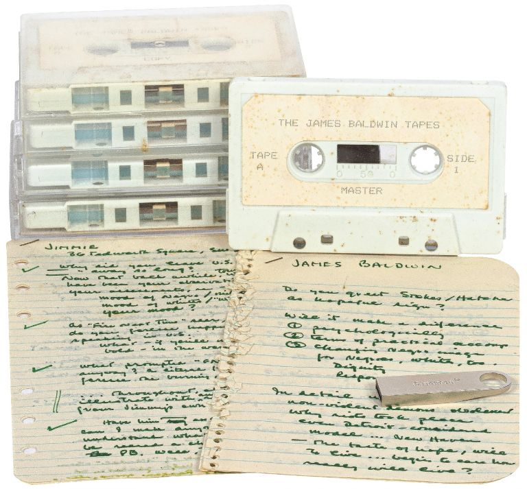 The James Baldwin Tapes: Original Cassette Recordings of Alex Haley Interviewing James Baldwin for an Unpublished Playboy Interview, with Haley's Notes. James BALDWIN, Alex Haley.