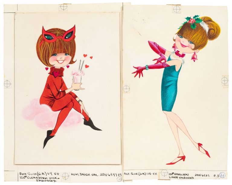 [Archive]: Original Greeting Card Art for Norcross Greeting Cards