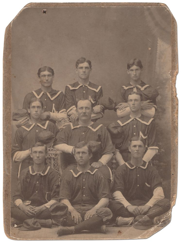 [Cabinet photograph]: Very Early 19th Century Baseball Nine