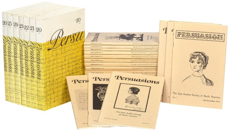 Persuasion: The Jane Austen Society of North America (or Persuasions). No. 1- No. 26, plus two Occasional Papers. Jane AUSTEN.