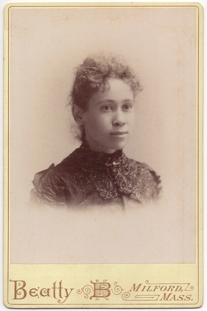 [Cabinet card]: Portrait of a Millford, Massachusetts African-American Woman