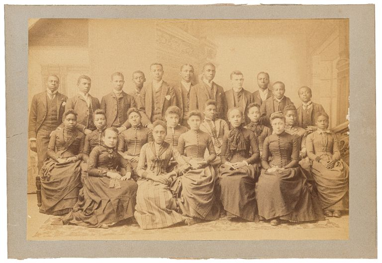Large Photographic Class Portrait of an African-American High School Class from Norfolk, Virginia
