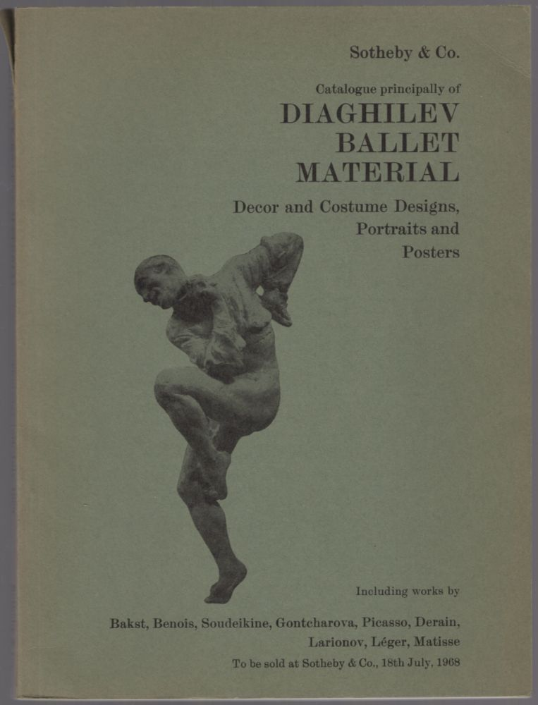 Catalogue Principally of Diaghilev Ballet Material: Decor and Costume Designs, Portraits and Posters