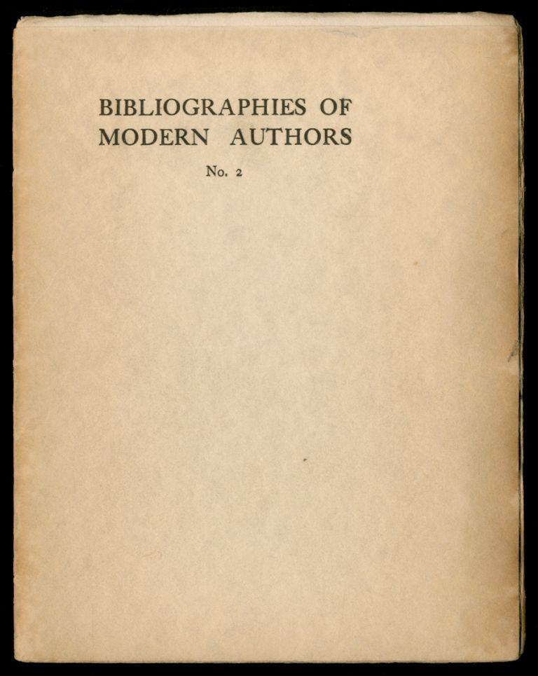 Bibliographies of Modern Authors No. 2: John Masefield. John MASEFIELD, I A. Williams.