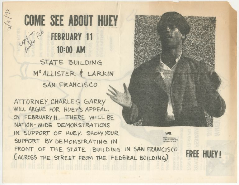 Flyer]: Huey P. Newton Birthday Benefit. Free Huey