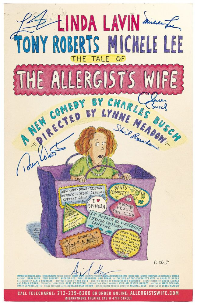 (Theatrical Poster): The Tale of the Allergist's Wife. A New Comedy by Charles Busch. Directed by Lynne Meadow. Charles BUSCH, Roz Chast.