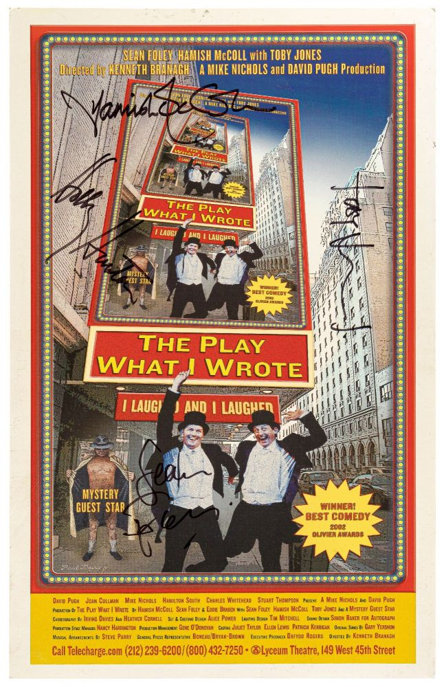 (Theatrical Poster): The Play What I Wrote. Hamish McCOLL, Sean Foley, Eddie Braben.