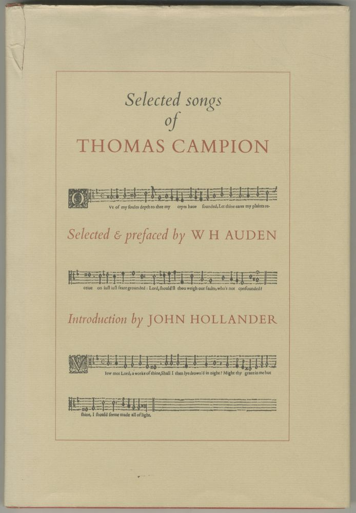 Selected Songs of Thomas Campion. W. H. AUDEN.