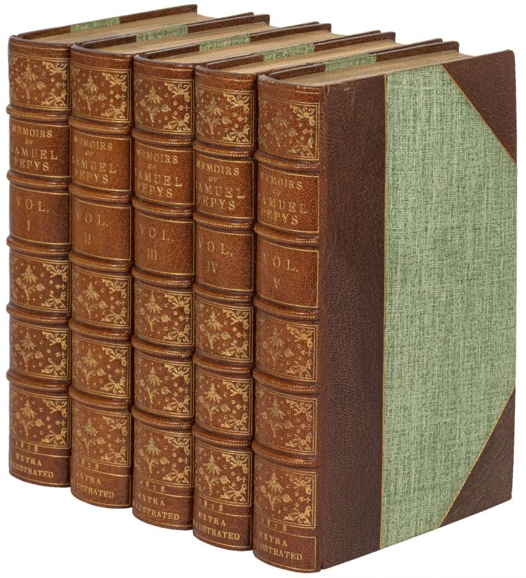 Memoirs of Samuel Pepys … comprising His Diary from 1659 to 1669, deciphered by the Rev. John Smith … and A Selection from his Private Correspondence … In Five Volumes. Samuel PEPYS.