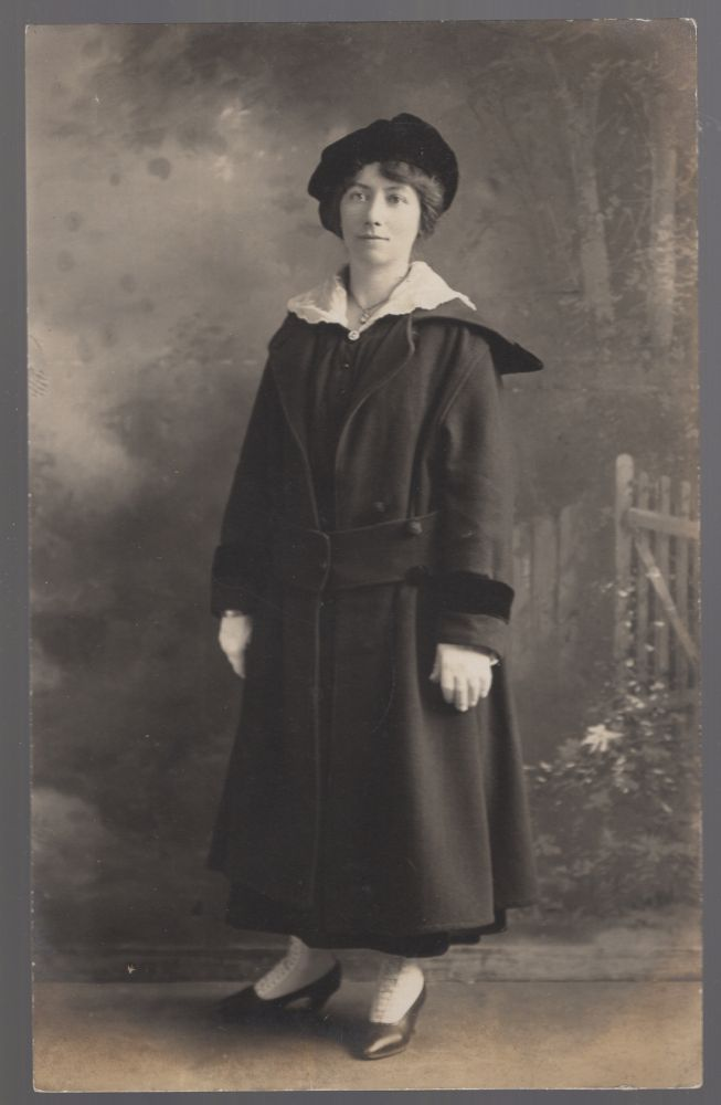 (Real Photo Post Card): Young Woman in Cape May, New Jersey
