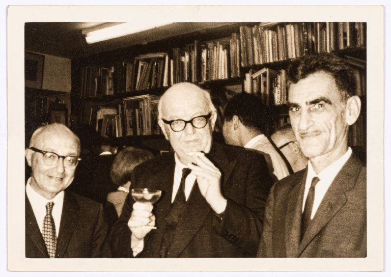 (Three photographs): George Oppen and Charles Reznikoff. George OPPEN, Charles Reznikoff.