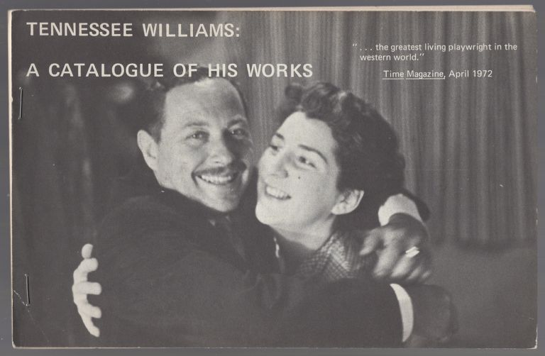 Tennessee Williams: A Catalogue of His Works. Tennessee WILLIAMS.