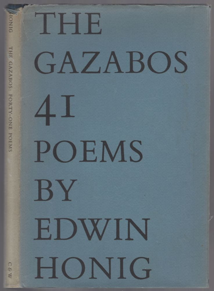 The Gazabos. Forty-One Poems. Edwin HONIG.
