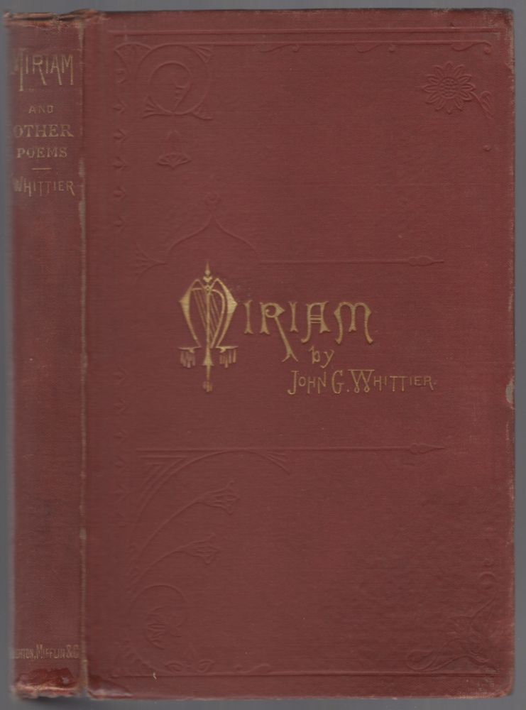 Miriam and Other Poems. William Cullen BRYANT.
