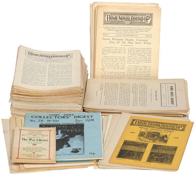 Over 200 issues of Dime Novel Round Up, plus related publications.