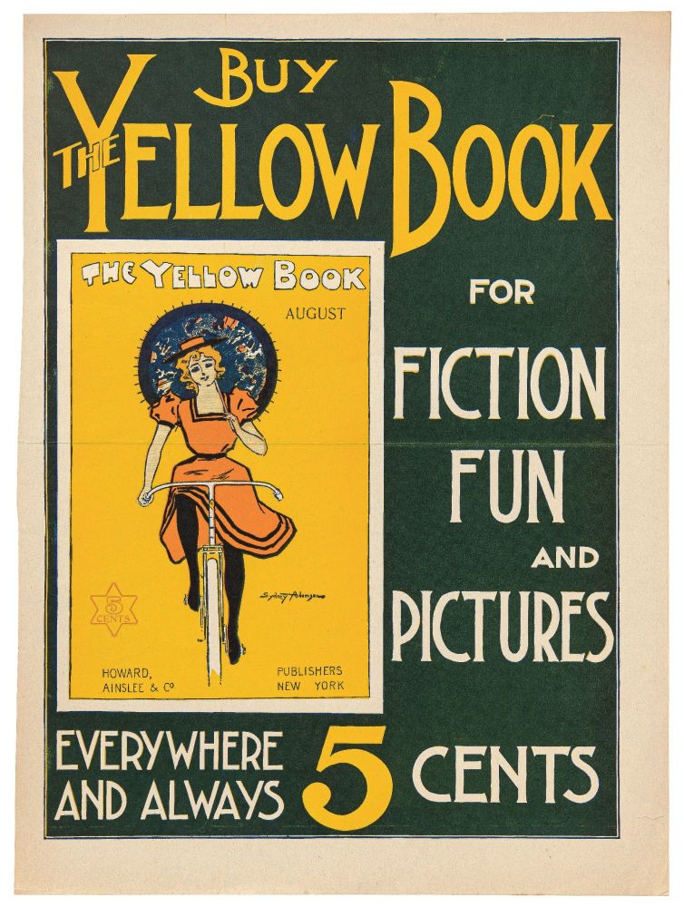 [Broadside]: Buy the Yellow Book for Fiction Fun and Pictures. Sydney ADAMSON.