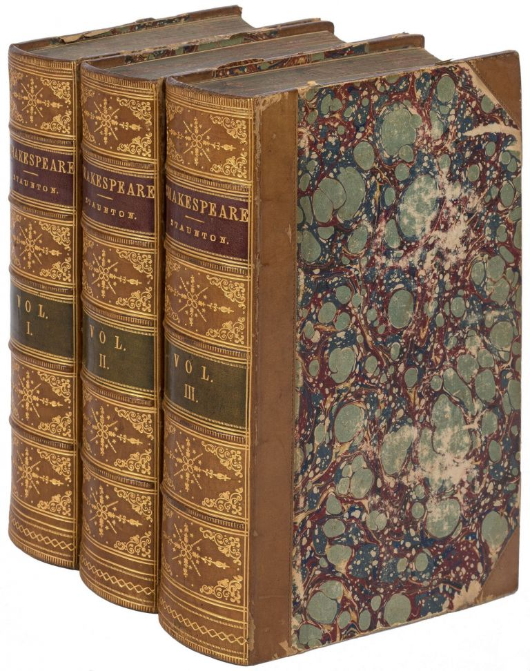The Works of Shakespeare (Three Volume Set). William SHAKESPEARE, Howard Staunton, John Gilbert, engravers Brothers Dalziel.