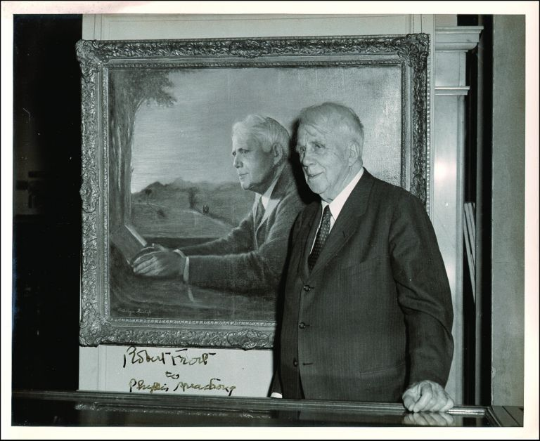Inscribed Photograph. Robert FROST.