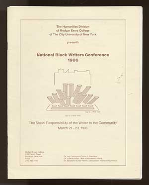 National Black Writers Conference 1986: The Social Responsibility of the Writer to the Community, March 21-23, 1986