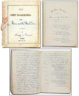 [Manuscript]: The Lone Wanderer: or Jòan and the Silver Dove: A Tale of Fairy Land: 1855. Anonymous.