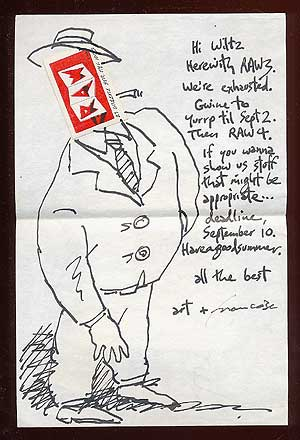 "Autograph Letter Signed (""Art + Francoise"") to S. Clay Wilson with a Drawing by Spiegelman"