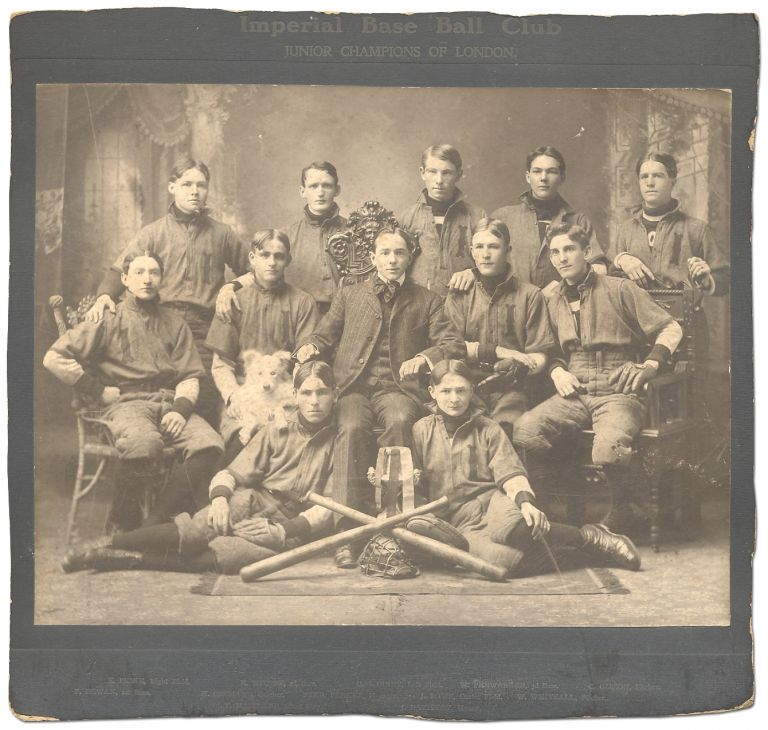 [Photograph]: Imperial Base Ball Club: Junior Champions of London