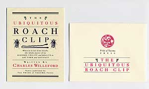 The Ubiquitous Roach Clip. Charles WILLEFORD, Michael Kellner, Design and illustration.