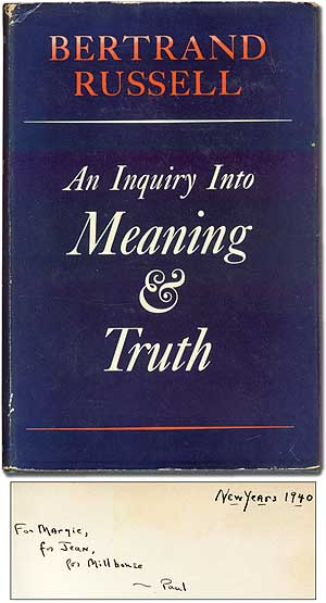 An Inquiry into Meaning & Truth