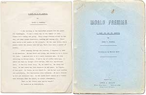 """Film Treatment by Farrell entitled """"I Want to Go to America"""" [with] Screenplay by Marvin Wald. James T. FARRELL, Marvin Wald."""