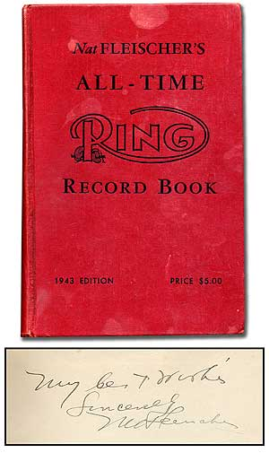 Nat Fleischer's All-Time Ring Record Book - 1943 edition
