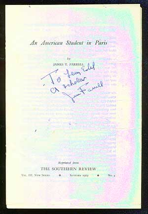 An American Student in Paris. James T. FARRELL.