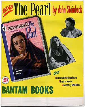 The Pearl: Originial Poster for the Bantam Books Paperback Movie Tie-In Edition. John STEINBECK.