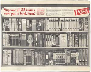 "Original Poster: ""The Saturday Evening Post - Suppose all 52 issues were put in book form?"