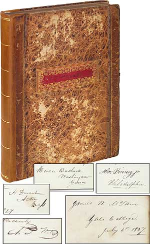 1827 Autograph Album from Yale College. James Woods McLANE.