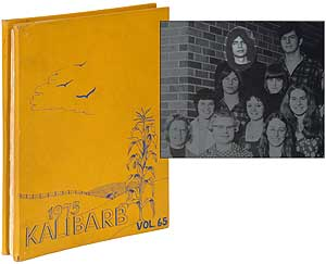High School Yearbook]: 1975 Kalibarb: The Kalibre [bound with several issues of] The Barblet