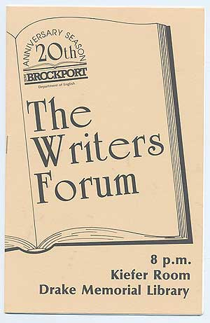 The Brockport Writers Forum of The Department of English is proud to present Special Guest Stanley Kunitz On the occasion of the Twentieth Anniversary of The Brockport Writers Forum