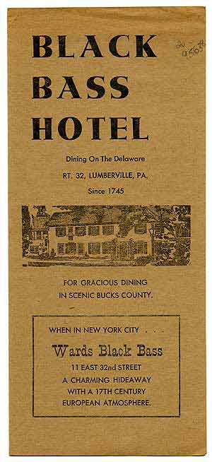 Black Bass Hotel: Dining on the Delaware
