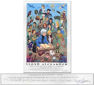 Lloyd Alexander and A Few of His Closest Friends. Illustration by Alexander Limont