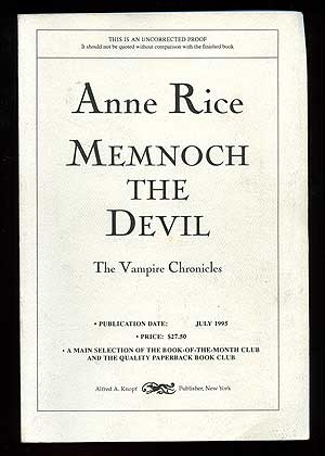Memnoch the Devil. Anne RICE.