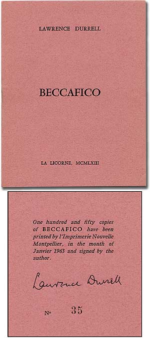 Beccafico. Lawrence DURRELL.
