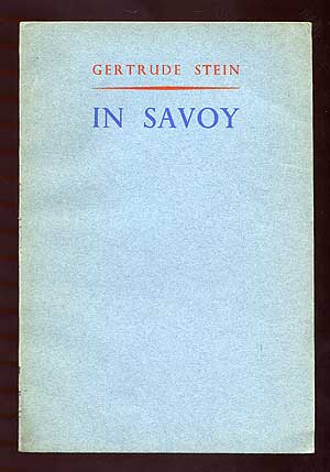 In Savoy or 'Yes' is for Yes for a Very Young Man: A Play of the Resistance in France
