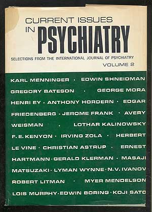 Current Issues in Psychiatry: Selections from the International Journal of Psychiatry, Volume 2