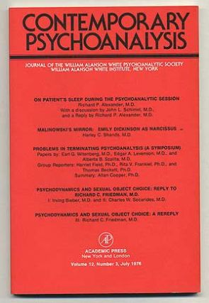 Contemporary Psychoanalysis: Volume 12, Number 3, July, 1976