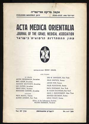 Acta Medica Orientalia, Journal of the Israel Medical Association: Volume XV, Number 6-7, July-July 1956
