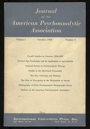 Journal of the American Psychoanalytic Association: Volume I, October, 1953, Number 4