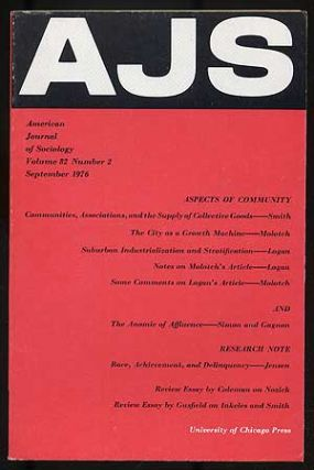 American Journal of Sociology: Volume 82, Number 2, September 1976