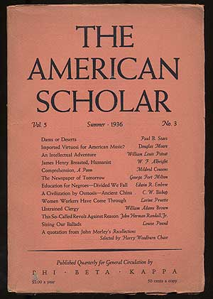 The American Scholar: Volume 5, Number 3, Summer, 1936
