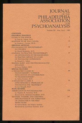 Journal of the Philadelphia Association for Psychoanalysis: Volume VII, Numbers 1-4, 1980