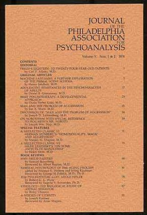 Journal of the Philadelphia Association for Psychoanalysis: Volume V, Numbers 1-4, 1978